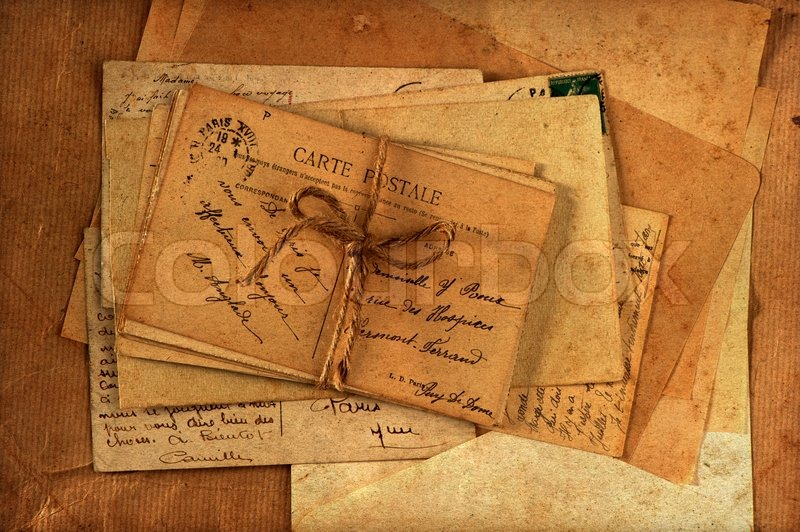 Old Letters And French Postcards Stock Photo Colourbox