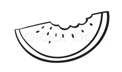 watermelon clipart slice sketch vector illustration seed