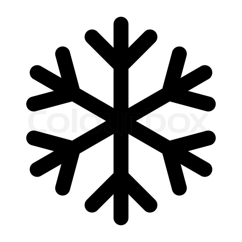 Icon Christmas Snowflake Black Stock Vector Colourbox
