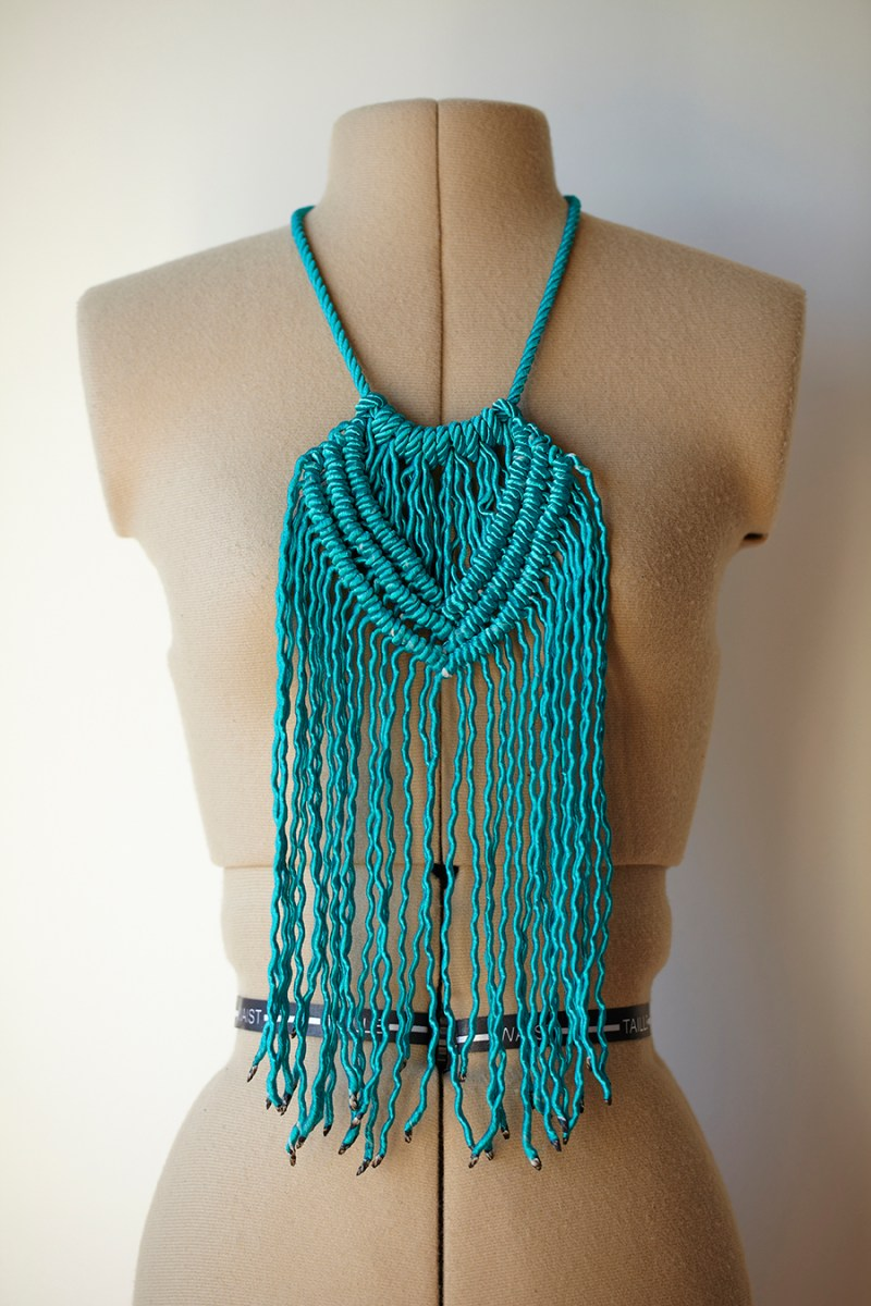 Macrame Necklace by Kirri-maDe available at the Colour Box Studio Summer Pop Up Shop