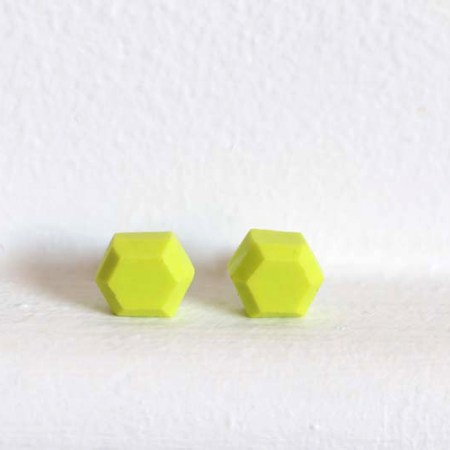 Aacute Earrings Lime Green Geo - Colour Box Studio Online Shop