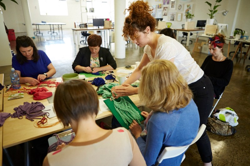 Colour Box Studio Workshop Participants at TShirt to Treasure Workshop facilitated by Kirri-Mae Sampson - Image courtesy of Kirri-maDe 02