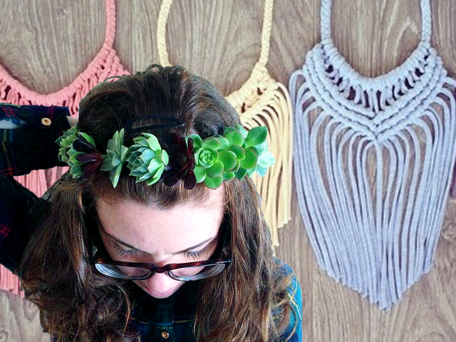 Colour Box Studio_Craft Cubed_Flower Crown and Upcycle Macrame Necklace Double Workshop