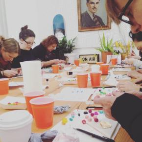 Colour Box Studio Clay Polymer Jewellery Making Workshop with Julie and Kelly from Aacute