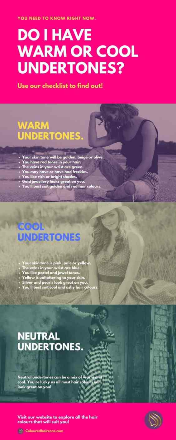 cool or warm undertones infographic