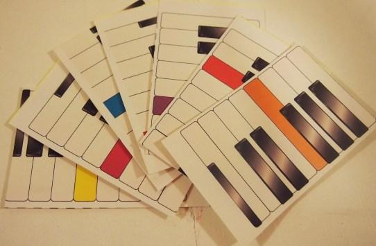 Piano Key Name Flashcards