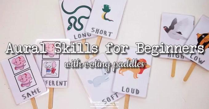 Voting Paddles for Beginner Piano Listening Skills