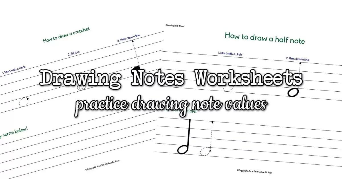 Drawing Half Notes & Quarter Notes (Crotchets & Minims