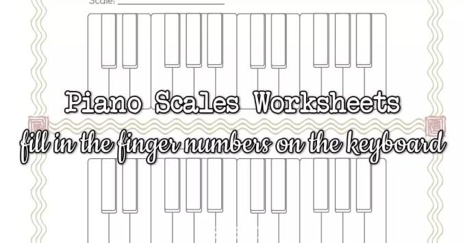 Blank Scale Keyboards Worksheet