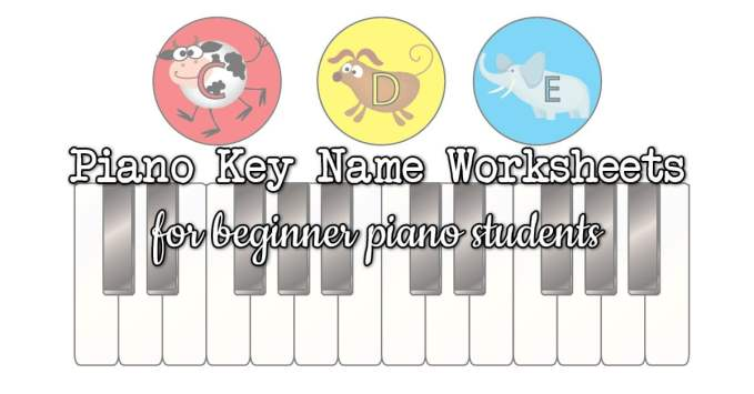 Piano Key Name Worksheets for Piano Students