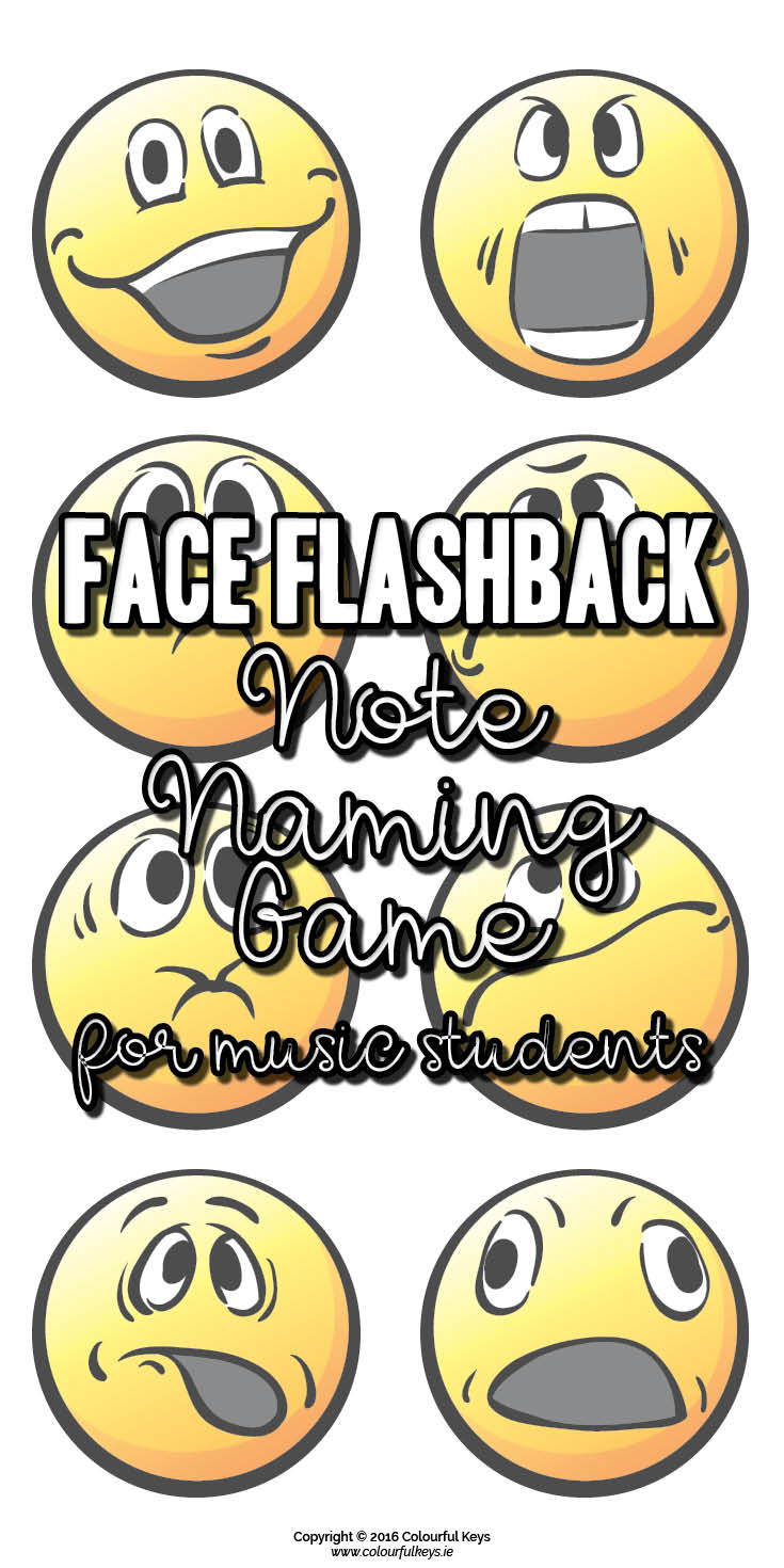 Face flashback middle C note names game