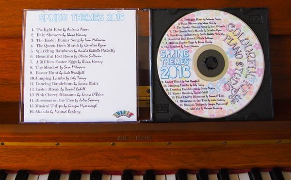 Spring Themes CD inside
