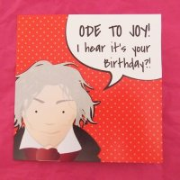 Red Beethoven Birthday Cards