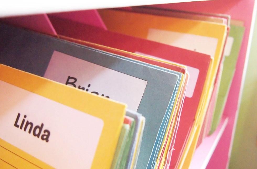 Piano student folder organisation