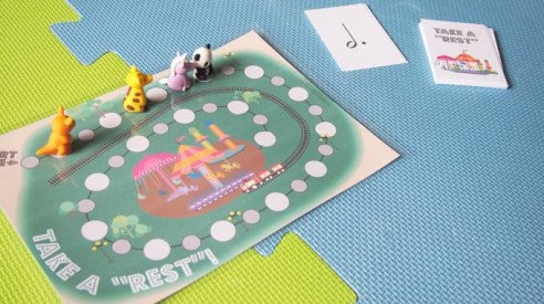 Take a rest note value boardgame
