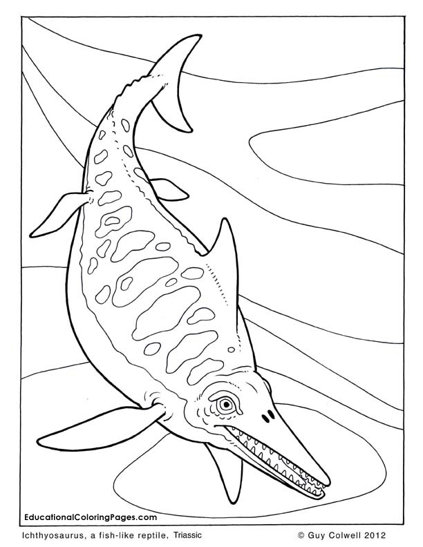 Mosasaur Dinosaur Coloring Pages Auto Electrical Wiring Diagram