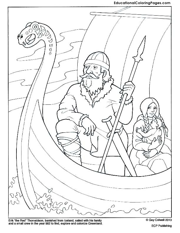 Erik the Red « Animal Coloring Pages for Kids