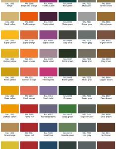 Download the ral colour chart also kote ltd rh colourkote