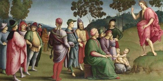 Raphael, Saint John Preaching | ColourLex