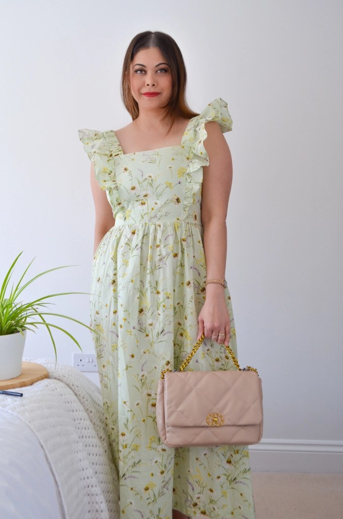 Spring summer dress with back bow tie HM wildflower collection