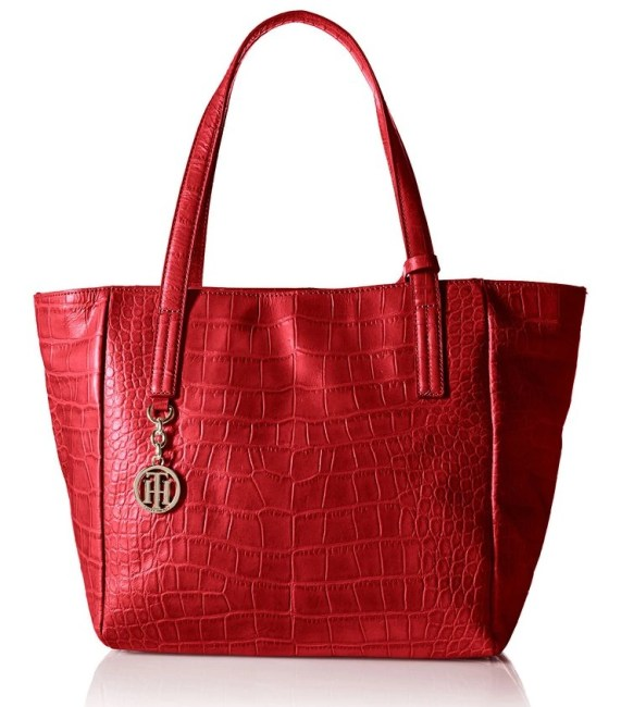 Tommy Hilfiger Claire Croco Tote Bag