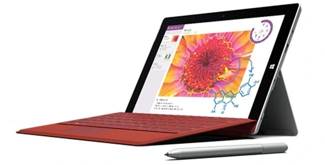 Surface 3 with optional keyboard and stylus