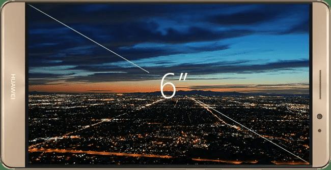 Huawei Mate 8 Display to Body Ratio