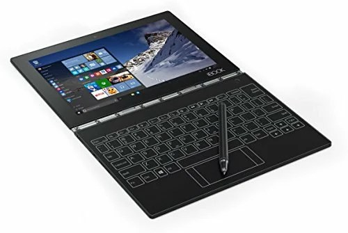 at just under 2 lbs the lenovo yoga book is the worlds thinnest and lightest 2 in 1 android tablet a windows 10 pro 64 bit version is also available