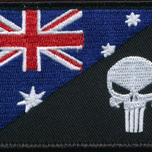 "Australian National Flag  - Fun Patch ""Punisher"""