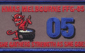 """HMAS Melbourne FFG-05 - """"She Gathers Strength As She Goes""""  Patch"""