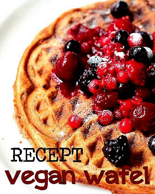 Recept vegan wafel met vruchten foodblogswap Pinterest