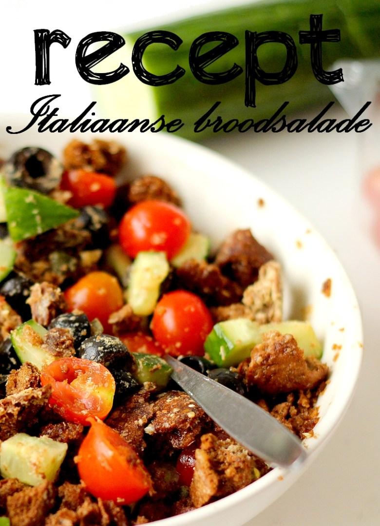Recept panzanella Italiaanse broodsalade Pinterest