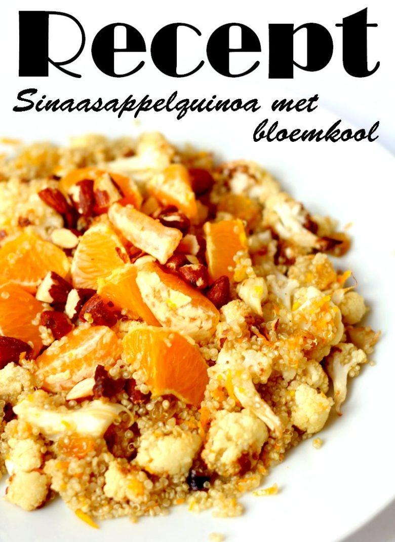 Recept sinaasappelquinoa met bloemkool vegan Pinterest