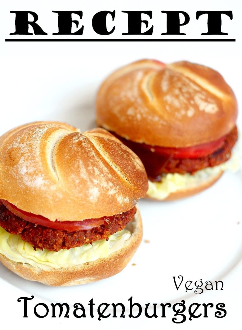 Recept vegan tomatenburger Pinterest