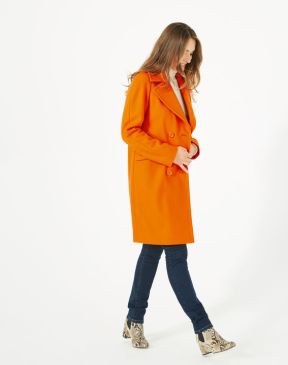 manteau orange laine 1 2 3