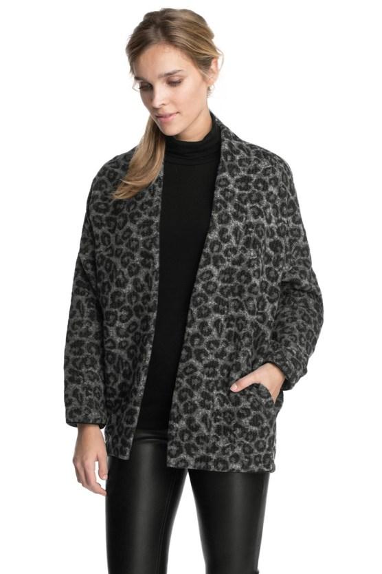 abrigo estampado animal