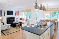 lynn morgan design white kitchen living room open floor ...