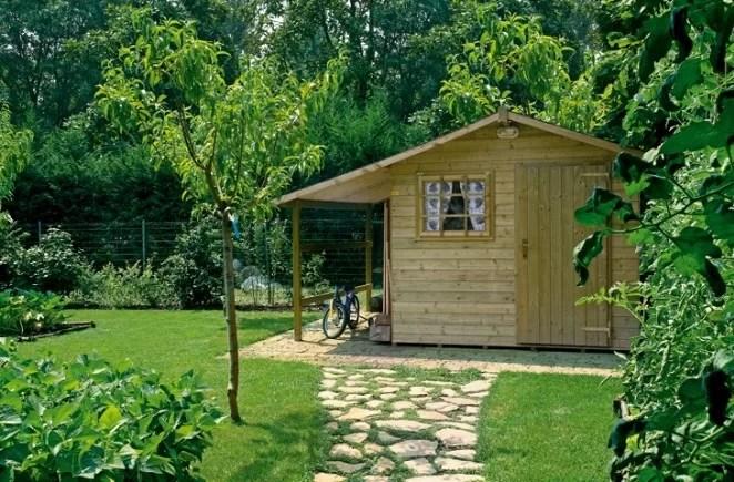 Casette di legno per giardino