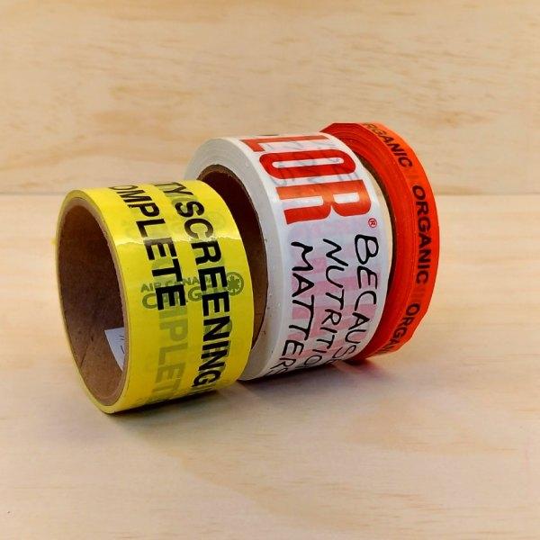 custom printed carton tape