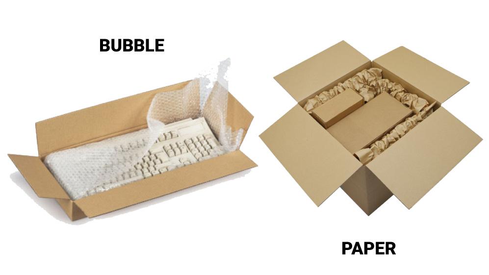 void fill bubble paper