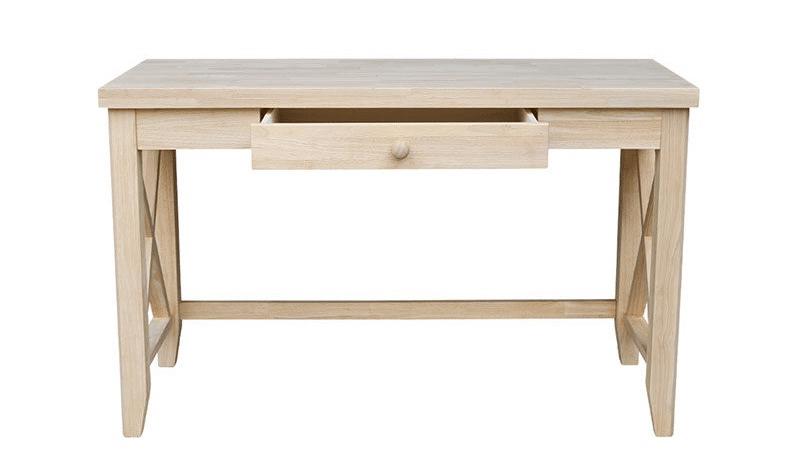 unfinished wood writing desk