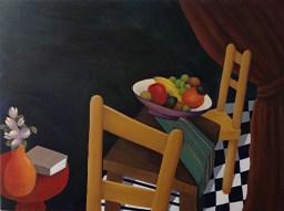 Lori Duckstein | At Table with Fruit II | Acrylic | 30 x 40