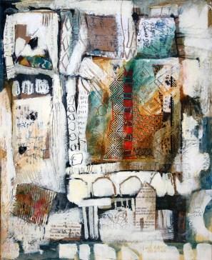 "Jacqui Beck | Hidden Thoughts | Mixed Media | 17"" x 14"""