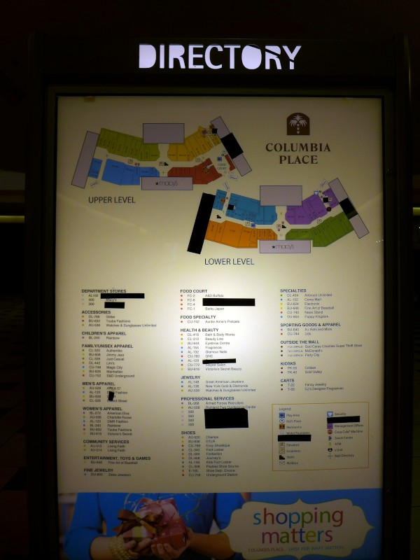 Columbia Place Mall Stores : columbia, place, stores, Notch, Columbia, Closings