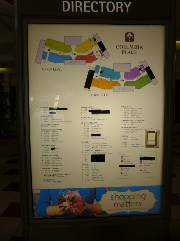 Columbia Place Mall Stores : columbia, place, stores, Columbia, Closings