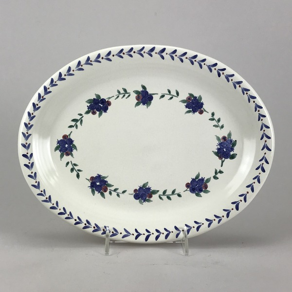 blueberry oval platter  sc 1 st  Columbia Falls Pottery & blueberry serving platter made in Maine