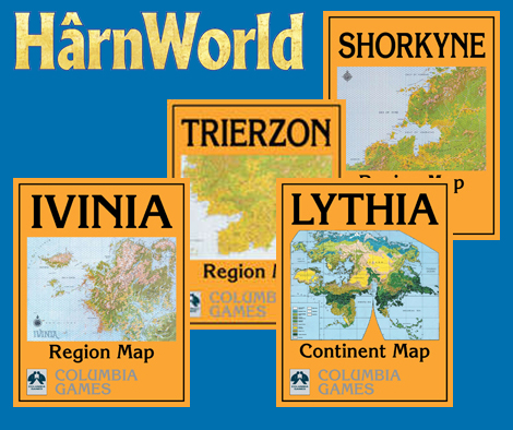 HârnWorld Regional and Continent Maps - Columbia Games