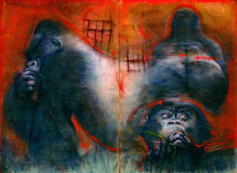 """Silverback"" by Bob Ziering. Courtesy of the artist."