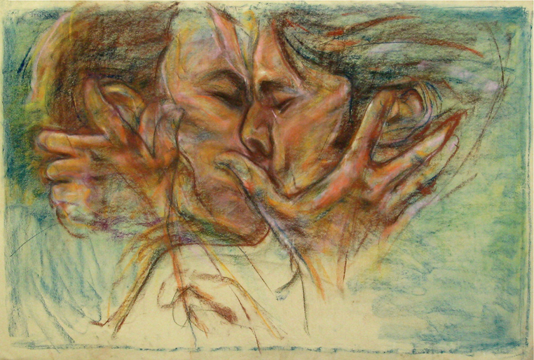 """The Kiss"" by Bob Ziering. Courtesy of the artist."