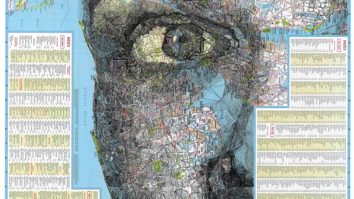 Art by Mira Dayal: Faces in Maps